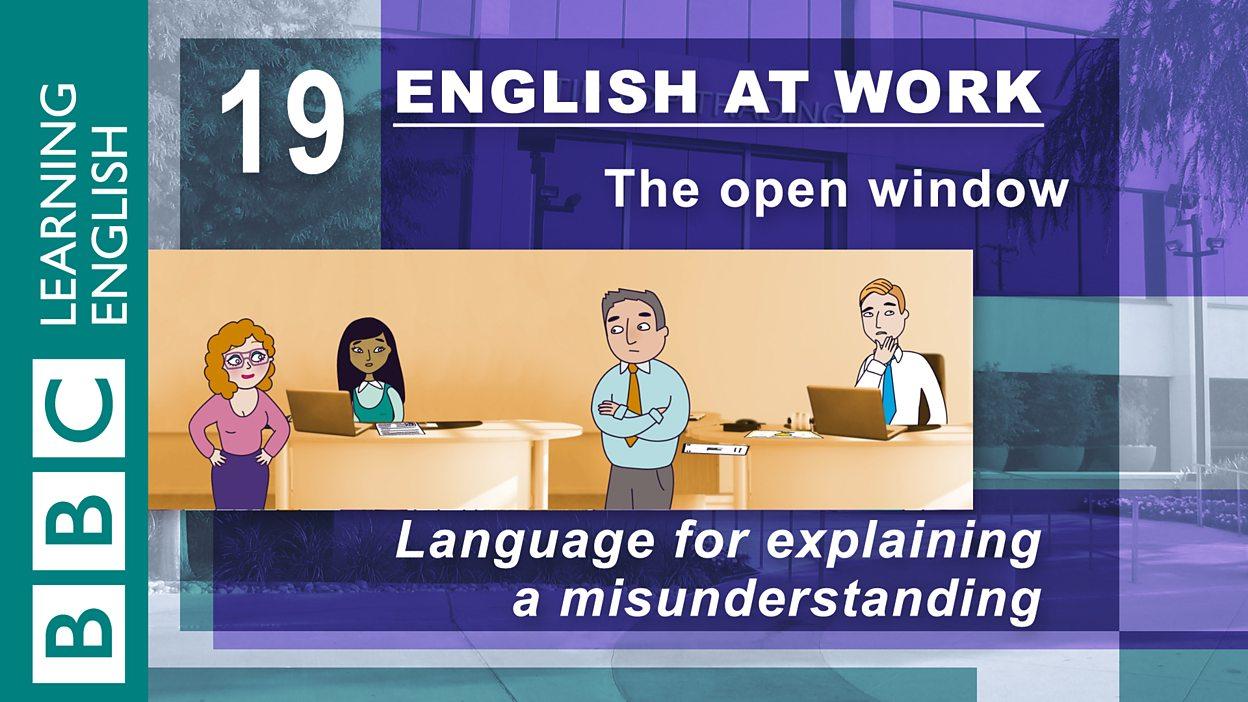 english at work 19 the open window balloon